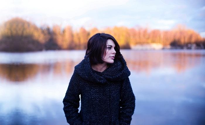 Zateplený dámsky kabát