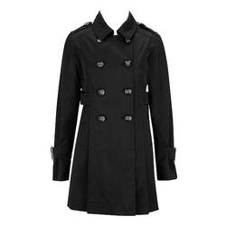 Dámsky kabát v čiernej farbe